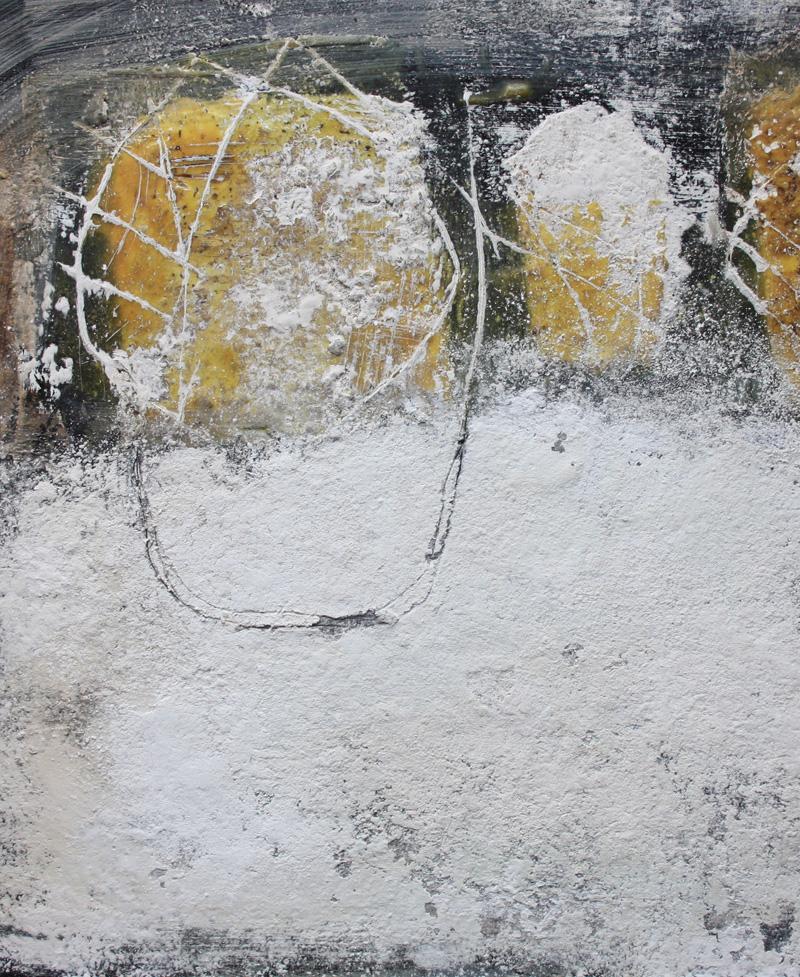 Werkreihe black and white VII, mischtechnik auf holz von sabine mannheims, kuenstlerin aus nuernberg